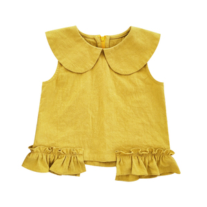 2994/china selling factory direct sale excellent Thin cotton sleeveless top for baby girl