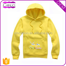 280gsm Weight Plain Printed Yellow Hoodies Wholesale Price