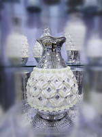 hot selling modern ceramics vase with glass and jewel