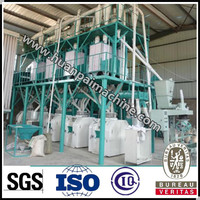 50T maize grits mill corn grits milling machine