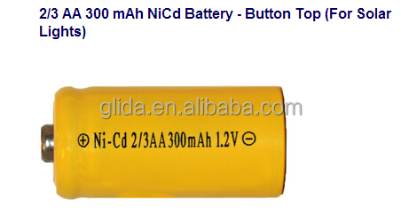 Ni-Cd 2/3 aa Rechargeable Battery Manufacturer with CE,ROHS,UL certificates