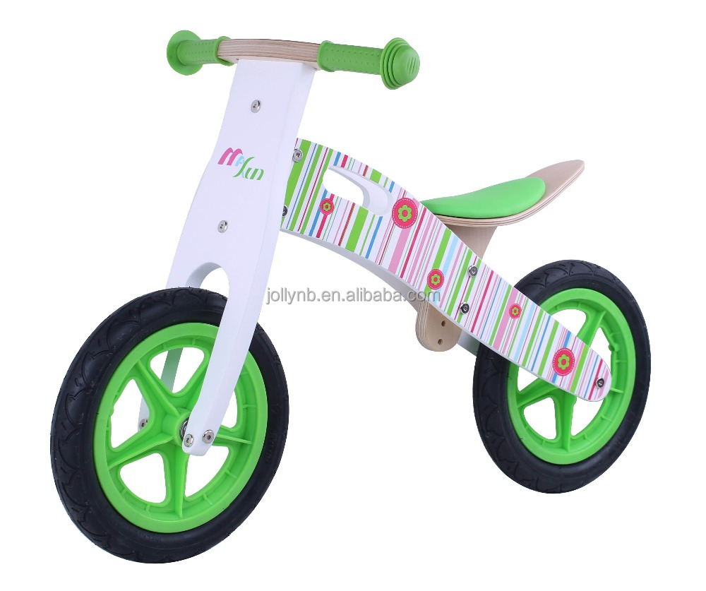 Modern Children Wooden Balance Bicycle with Plastic Wheels