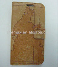 Map Design For Galaxy Note 2 Holster Case Leather Book Cover