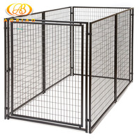 10x10x6ft large galvanized tube chain link dog crate wholesale