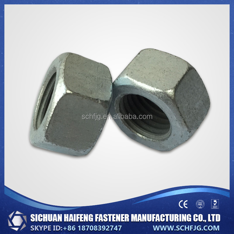 Factory Direct Low Price High Quality Standard Galvainzed Hex Head Nut in Southwest of China