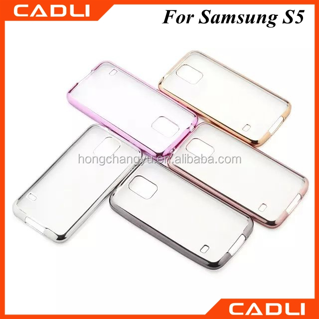 2016 factory direct supply new Super slim Electroplated TPU case for Samsung Galaxy S5
