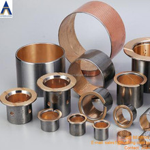 Tractor bush bimetal material steel copper layer wrapped bi metal bushing with oil groove oil hole bush