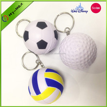 custom floating Soft PU football keychains