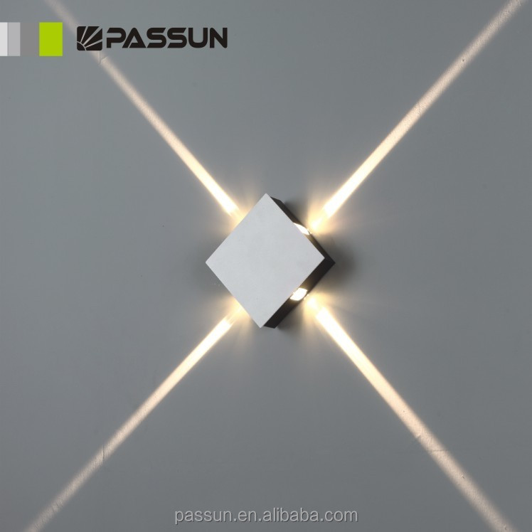 beautiful modern led wall light 4x1w