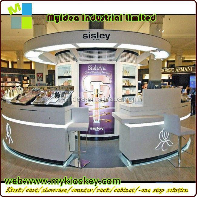 Exhibition Booth Counter : Trade show cosmetic exhibition wood stand design booth
