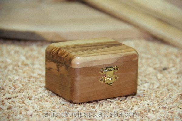 Jewellery Box of Ancient Olive Wood