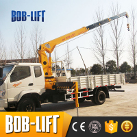 mini mobile boom cranes 5 ton with telescopic for sale