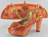 Wholesale italian shoes and bag set women matching shoes and bag