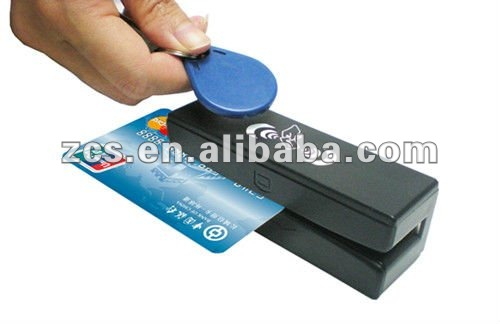 ZCS100 1 3.56 MHz RFID and Magnetic Stripe Card 3 Tracks reader