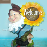 Decorative Polyresin Welcome Board Garden Pond