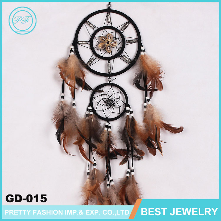 FengShui Old Chinese Feather Dream Catcher