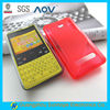 wave design soft plastic back cover for Nokia asha 210