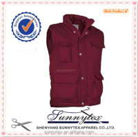 SUNNYTEX Best Sell Customised Mens Vest With Many Pockets