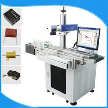 30w flying belt laser cutting machine fiber laser marking machine price for electronics,drivers