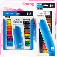 Watercolor Paint Set 24 colors Premium Quality Art Watercolors Painting Kit for Artists, Students & Beginners - Perfect
