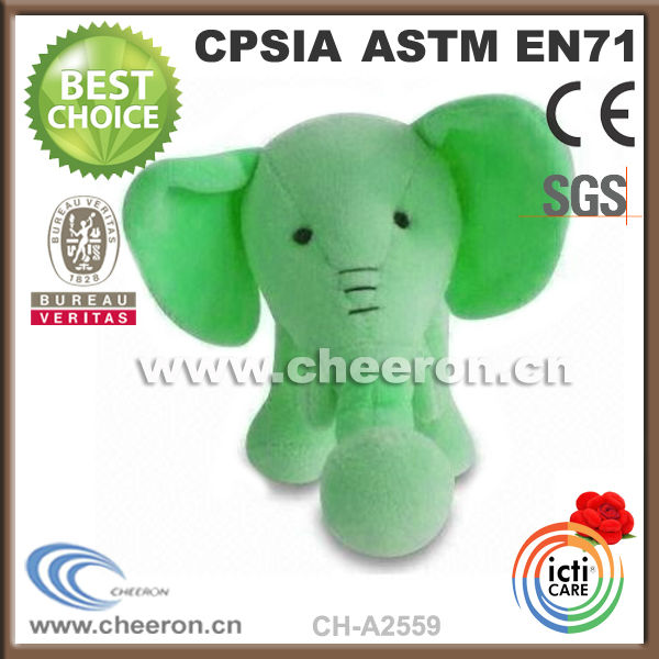 New Plush Creative Green Stuffed Elephant Plush Toys Doll Gift