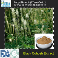 100% Good Quality Black Cohosh Extract 2.5% Triterpenoid Saponis