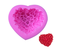 heart shape hand made soap candle cake mold for home diy