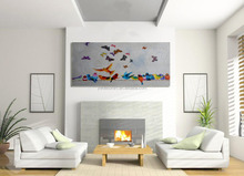 Hotsale Flying birds and Butterfly modern art painting designs