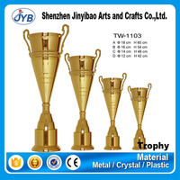 new fashion design custom metal trophy cup parts with great honors