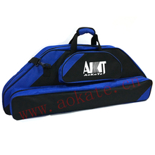 Blue large size bow and arrow set bag for compound bow and arrow carrying hunting compound bow case