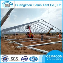 Guangzhou large 50x100m aluminum frame soccer tent for sale