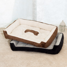 Round Solid Pet Bed Wooden Doghouse