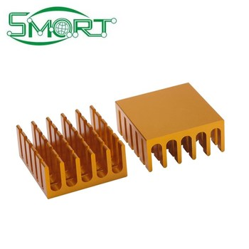 CPU aluminum alloy heat sink 22*22*10mm aluminum electronic high power radiator routing thermal pad can be customized