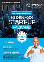 Affordable business start-up package for just R2999. Logo, Website, Business card, SEO, Emails