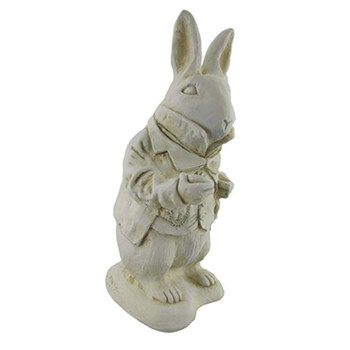 Alice in Wonderland White Rabbit Garden Statue Museum White-Resin