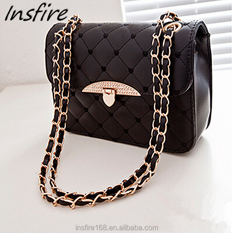 Factory stock bags ladies Pu leather handbag tmall chain shoulder purse bag