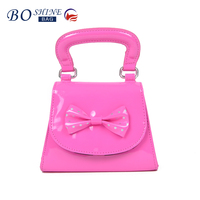 Dongguan PVC mini pink leather fashionable gift cosmetic bag