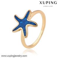 14058-18k gold fine jewelry china starfish shape rings