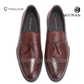 New style mens dress loafers men leather casual shoes with tassels
