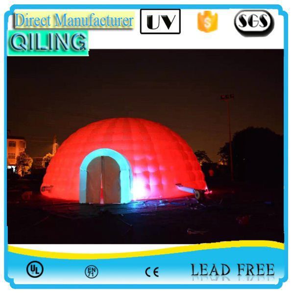Qiling reliable white inflatable exhibition stand in stock