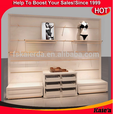 Modern wooden wholesale women underwear / Underwear Display Rack