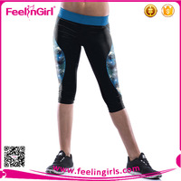 Polyester Microfiber Sports Wear Fabric Push Up Fitness Leggings