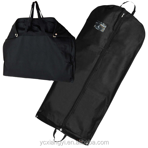Cotton Like ployester Zip western-style clothes garment bag; Man Wholesale suit garment bag