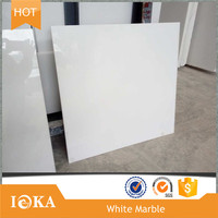China Wholesale Pure white marble grade A &amp B 40x80x3cm Cut-to-size