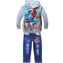 spiderman wholesale Factory good price children boys cartoon clothing set