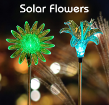 NINGBO YINRU flower artificial crafts standing LED solar garden stick lights