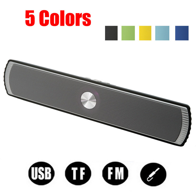 Portable Wireless Bluetooth Stereo Speaker TF AUX USB FM Radio with Built-in Mic Hands-free Bass HIFI Sound Speakers Loudspeaker