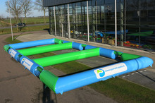 light blue and green Inflatable Panna Soccer Arena 3 in1 for sale