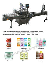 Automatic acid/bleach/toliet cleaner liquid filling machine
