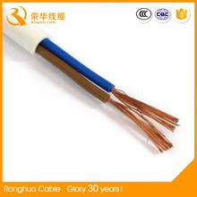 white and black color /hard and flexible 1.5/2.5/4/6 mm2 PVC insulated cable
